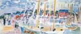 Søndag på Deauville Kunst av Raoul Dufy