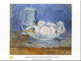 White Flowers Prints by Berthe Morisot