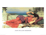 Midday Rest, c.1910 Posters por John William Godward