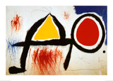 Personagge Devan Soleil Lámina por Joan Miró