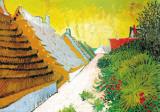 Farmhouses at Saintes-Maries, June 1888 Art by Vincent van Gogh
