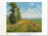 Meadow With Poplars Posters by Claude Monet