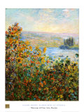 Flower Beds At Vetheuil Posters by Claude Monet