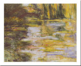 Waterlily Pond and Japanese Bridge Prints by Claude Monet
