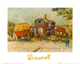 Caravans Encampment of Gypsies Posters by Vincent van Gogh