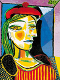 Girl with Red Beret Poster par Pablo Picasso