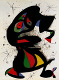 Aufrechte Figur Print by Joan Miró