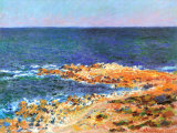 La Grande Bleue a Antibes, c.1888 Print by Claude Monet