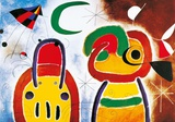 Joan Miró - L'Oisauau Plumage Deploye - Poster