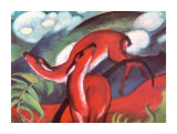 The Red Deer Prints by Franz Marc