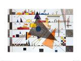 Horizonale, c.1924 Plakater af Wassily Kandinsky