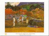 Women And White Horse Posters par Paul Gauguin