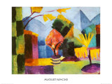 Garten am Thuner See Prints by Auguste Macke