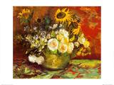 Vasija de flores Lámina por Vincent van Gogh
