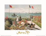 Balcony on the Sea at Saint Adresse Poster von Claude Monet