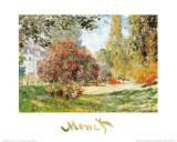 Het park bij Monceau Poster van Claude Monet
