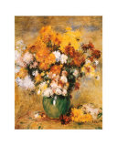Bouquet of Chrysanthemums Poster by Pierre-Auguste Renoir
