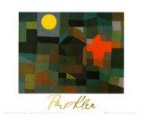 Incendio Sotto la Luna Piena Posters by Paul Klee