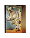 Young Virgin Auto-Sodomized by Her Own Chastity, c.1954 Plakater av Salvador Dalí