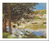 On the Bank of the Seine, Bennecourt, 1868 Prints by Claude Monet