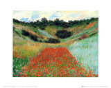 Field of Poppies at Vetheuil Plakater av Claude Monet