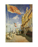 Hotel des Roches Prints by Claude Monet