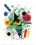 Pez cantando Láminas por Joan Miró