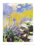 Les Agapanthes Posters por Claude Monet