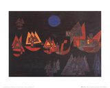 Schiffe im Dunkeln, c.1927 Poster by Paul Klee