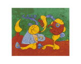 Adelige i fallgruven, på tysk Plakater av Joan Miró