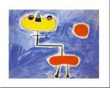 Figur Vor Roter Sonne Plakat av Joan Miró