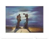 Archeologische herinnering aan 'Het Angelus' van Millet, 1935 Schilderij van Salvador Dalí