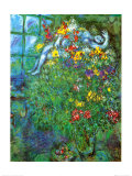 Bouquet Ardent Kunstdruck von Marc Chagall