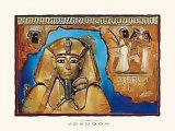 Tutankamón en azul Pósters por  Joadoor