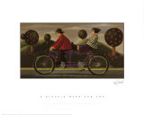A Bicycle Made For Two Poster by Paul Greenwood
