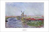Champ De Tulips En Holl Poster by Claude Monet