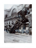 Train Accident at the Gare Montparnasse, Paris, 1895 Print by Alex Rinesch