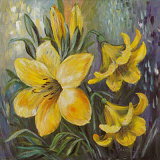 Yellow Lilies in Spring Prints by Katharina Schottler