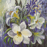 White Lilies in Spring Poster by Katharina Schottler