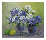 Bloms in Blue Art by Katharina Schottler