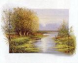 Autumn at the Brook Prints by Johan De Jong