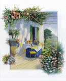 Veranda in Bloom I Print by Peter Motz