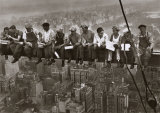 Lunch Atop a Skyscraper, c.1932 (detail) Poster by Charles C. Ebbets