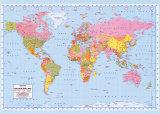 Mapa-múndi político  Fotografia