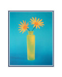 Yellow Daisies in Vase Matted Print
