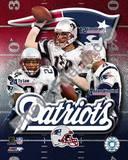 New England Patriots - Tom Brady, Adam Vinatieri, Ty Law Photo Photo