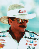 Dale Earnhardt Portrait With Straw Hat Photo