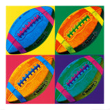 Ball Four: Football Prints by Hugo Wild