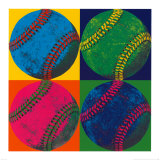Ball Four: Baseball Prints by Hugo Wild