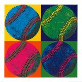 Quattro palline da baseball Stampe di Hugo Wild